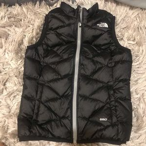Reversible North Face Black / Grey Vest